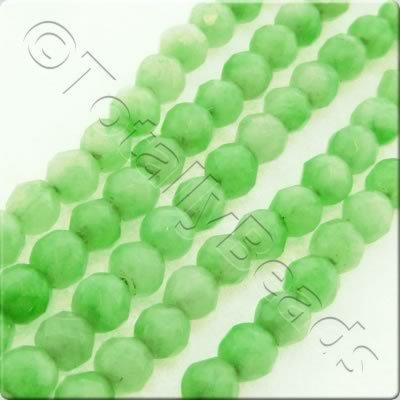Light Green Dyed Stone 3mm Facet Round