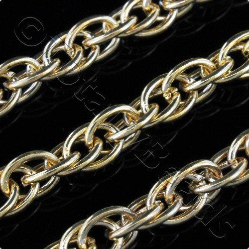 Chain Dark Gold Plated - Rope 5x7mm