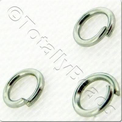 Jump Rings 4mm - Rhodium Plated