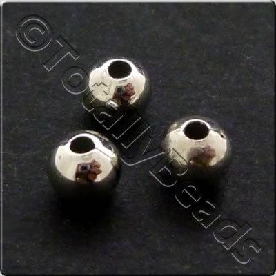Metalised Acrylic Bead Round 4mm - Antique Silver 400pcs