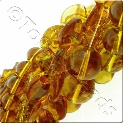 12 Strings Glass Bead Mix - Gold & Brown