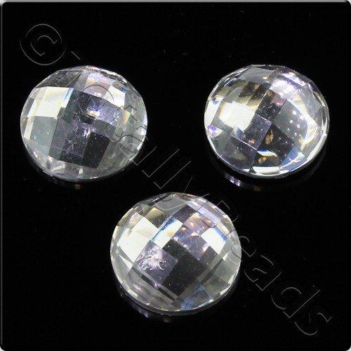 Resin Cabochon 10mm - Facet Crystal 10pcs