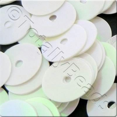 Sequins - 8mm Disc - Opaque White AB