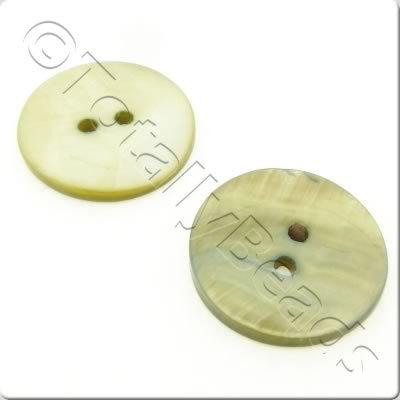 Shell Button 20mm - Olive