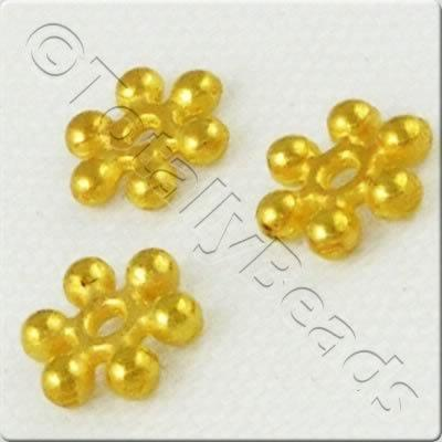 Snowflake Metal Bead 8mm - Gold 30pcs