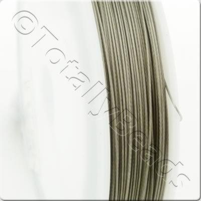 Tigertail Wire 0.45mm - Silver - 100m