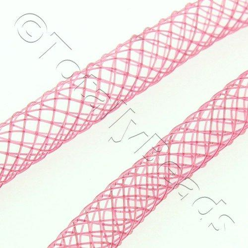 Nylon Mesh Tubing 4mm Burgundy - 4m pack