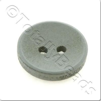 Concave Wooded Button 15mm - Grey