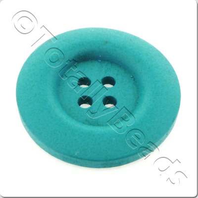 Wooden Button 30mm - Turquoise