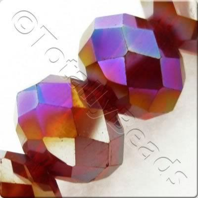 Crystal Rondelle 10x14mm - Ruby Red AB