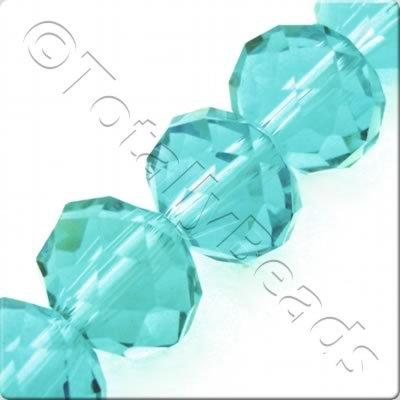Crystal Rondelle 10x14mm - Aqua