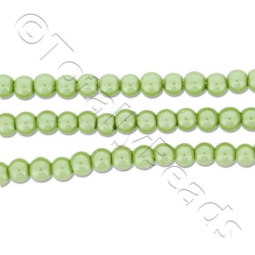 Glass Pearl Round Beads 3mm - Lime Green