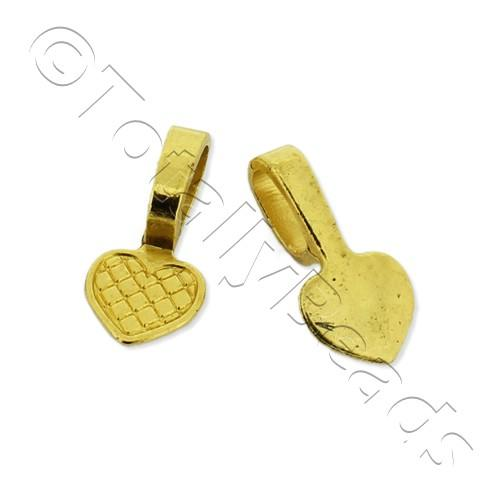 Gold Plated Bail - Large Heart