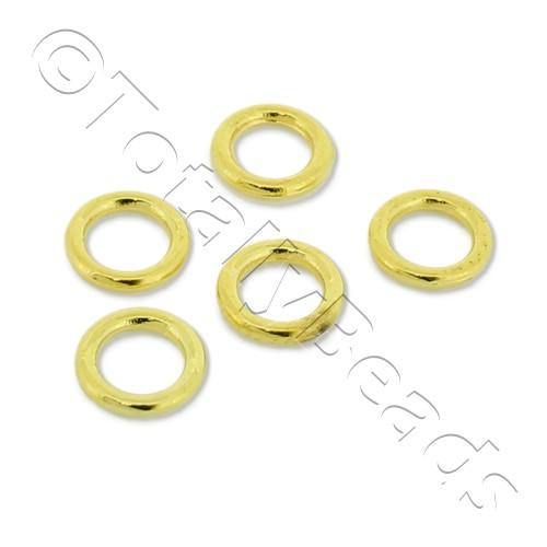 Closed Ring - 6mm - Gold Plated