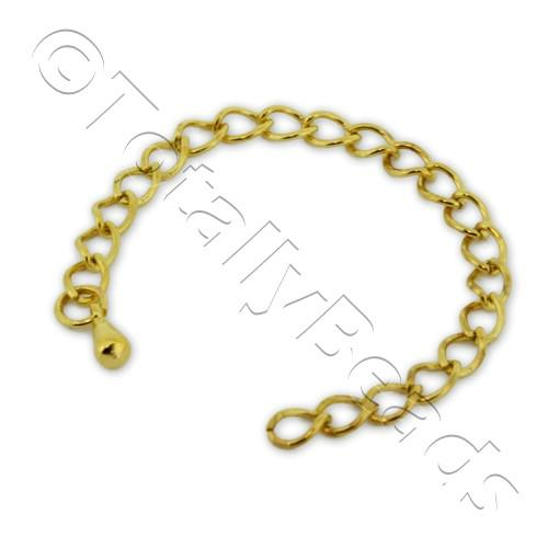 Extension Chain - Gold Plated - 10 Pieces