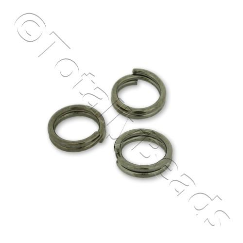 Split Rings 6mm - Black Plated