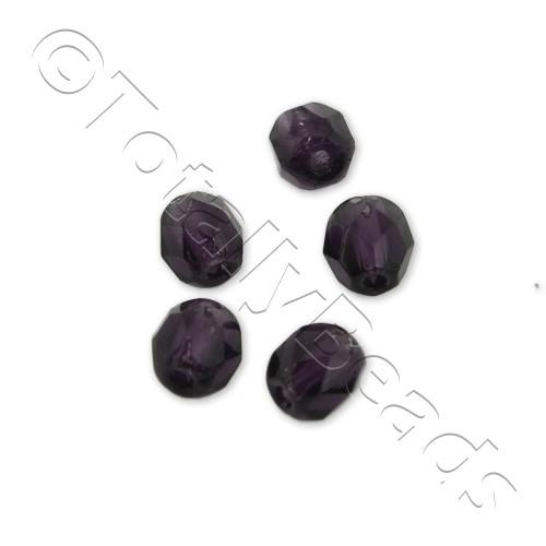 Czech Fire Polished 4mm Faceted - Tanzanite - 100pcs