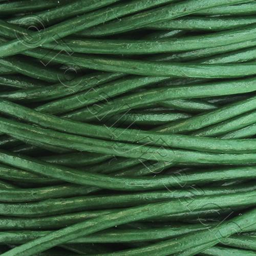 Leather Cord 1.5mm - Fern Green 1m length