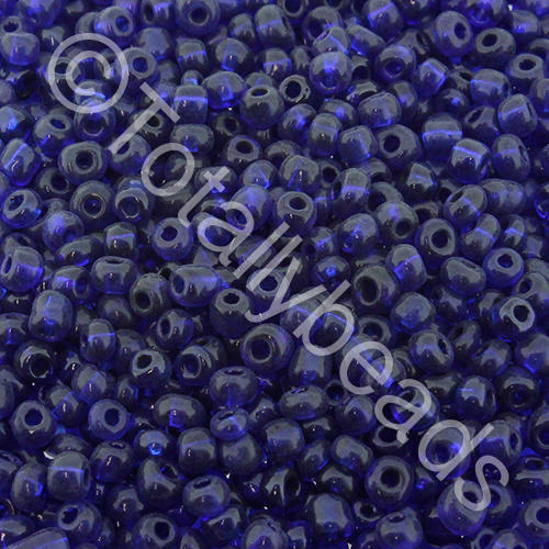Seed Beads Transparent  Dark Blue - Size 8