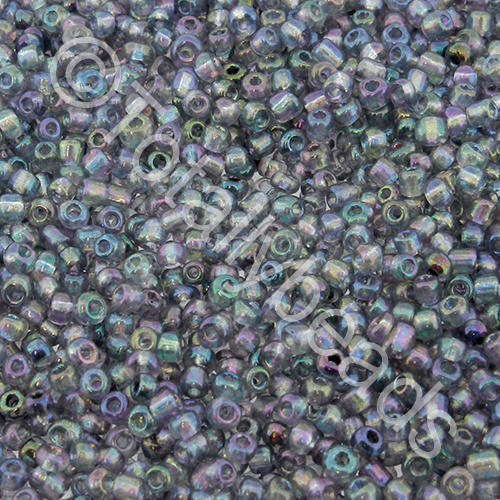 Seed Beads Transparent Rainbow  Grey - Size 11