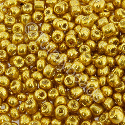 Seed Beads Metallic  Gold - Size 6