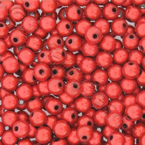 Miracle Beads - 6mm Round Red