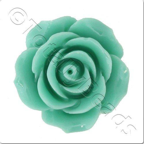 Acrylic Rose 25mm 2 Row - Green