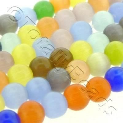 Cats Eye Bead - Round 4mm - Mixed
