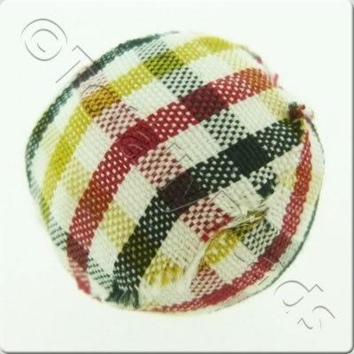 Chequered Cloth Bead 20mm - C1
