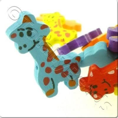Childrens Wooden Bead - Giraffe