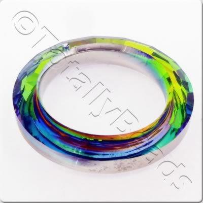 Crystal Pendant - Ring 51mm - Silver Rainbow