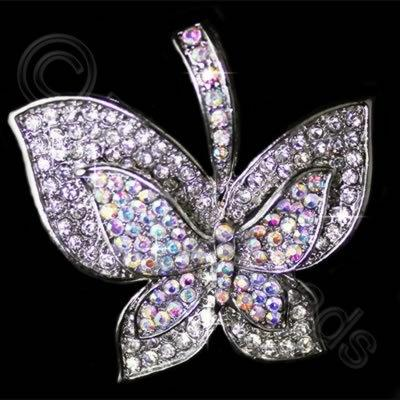 Diamante Pendant - Butterfly - Crystal & AB