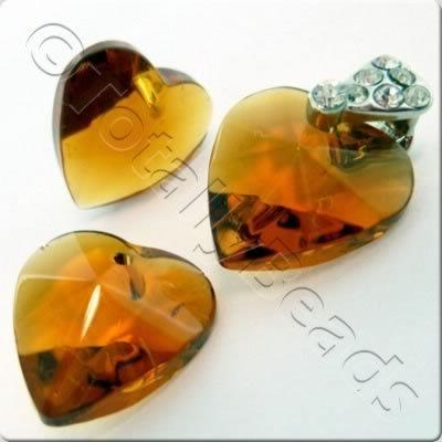 Glass Heart - Brown