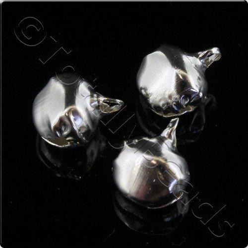 Bells 10mm Silver Plated 25pcs