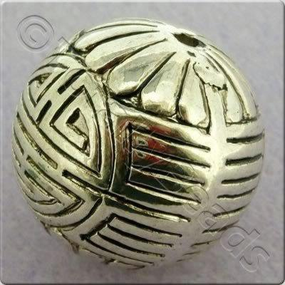 Acrylic Antique Silver Bead - Round 26mm