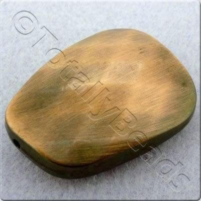 Acrylic Red Copper Bead - Facet Flat Nugget 40mm
