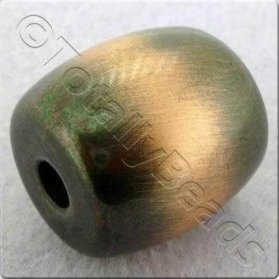Acrylic Red Copper Bead - Barrel 24mm
