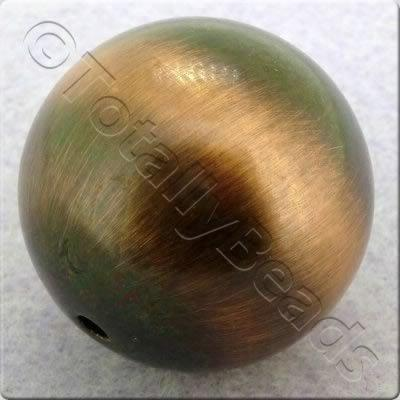 Acrylic Red Copper Bead - Round 24mm