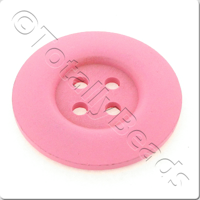 Wooden Button 50mm - Pink