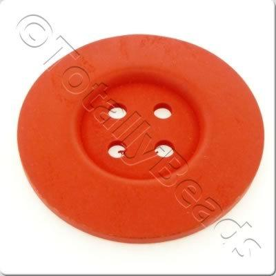 Wooden Button 60mm - Red