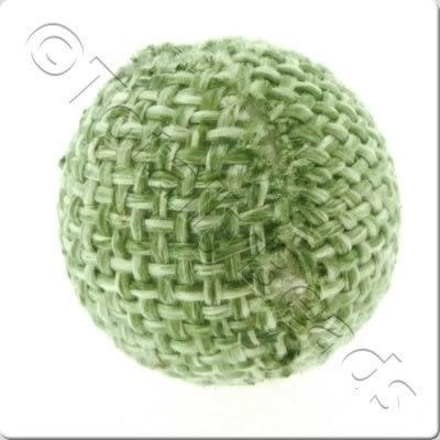 Weaved Hatch Bead - Green