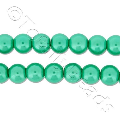 Glass Pearl Round Beads 6mm - Sea Foam Green