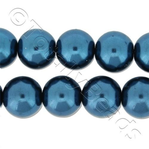 Glass Pearl Round Beads 10mm - Montana
