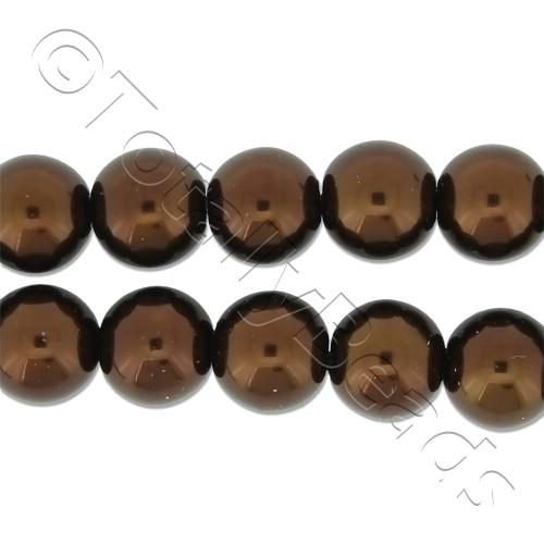Glass Pearl Round Beads 8mm - Bronze