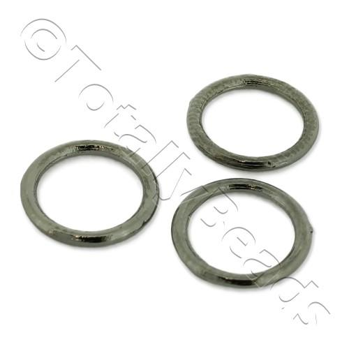 Closed Ring - 10mm - Black Plated