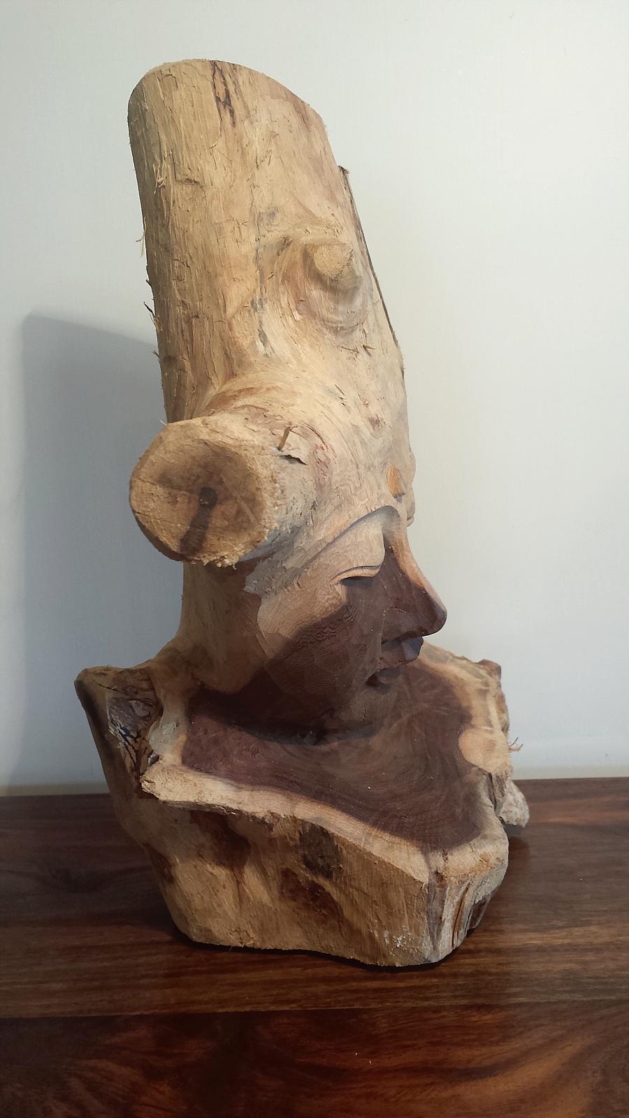 Hand Carved Driftwood Buddha 02