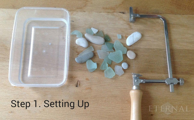 How to cut sea glass and stone with diamond wire
