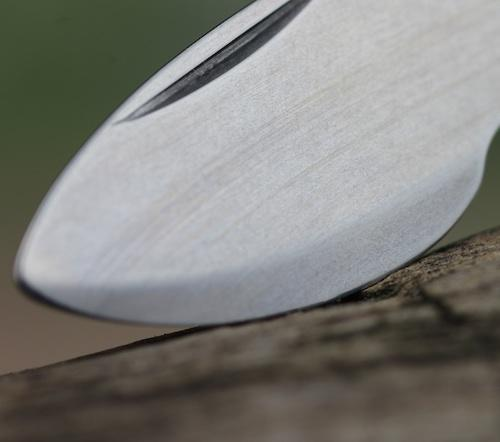 Close up of one blade on the Wenger Swiss Case Opener Knife