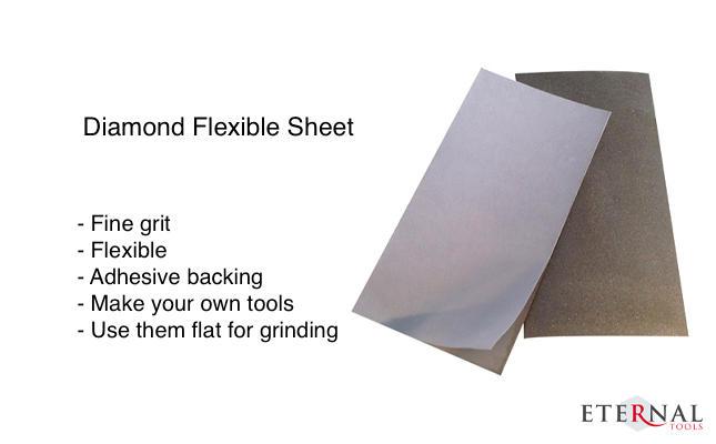 Diamond flexible sheet for pre-polish and grinding
