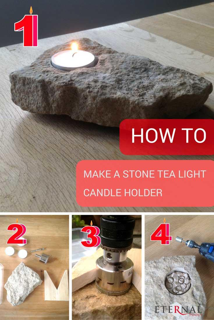 How to Make a Beautiful stone tea light candle holder in 4 easy steps